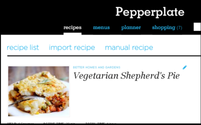 Singing the Praises of Pepperplate.com